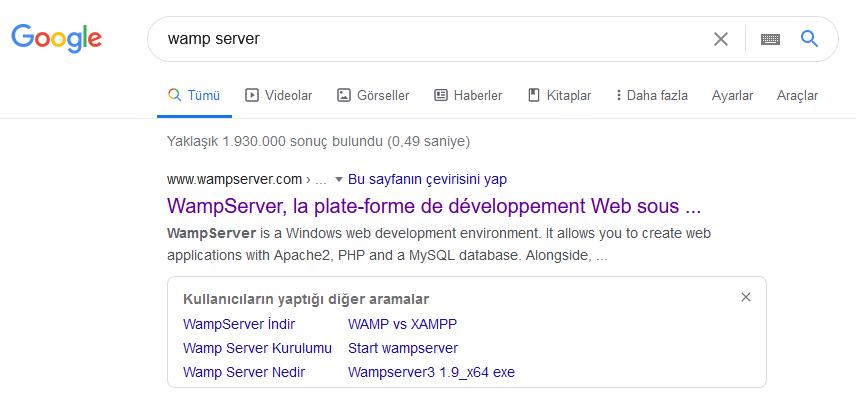 Wamp Server Kurulumu